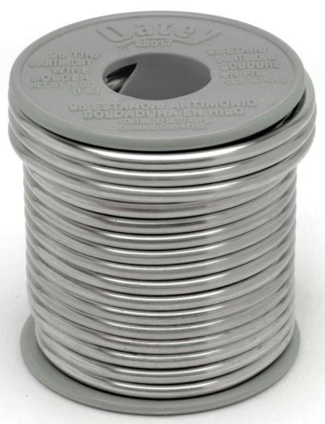 , Solid, 95 Tin/5 Antimony, Plumbing Wire Solder