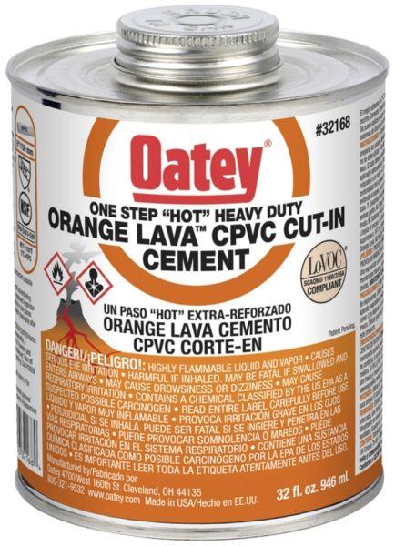 32 Oz, Can, Orange, CPVC, Heavy, Solvent Cement