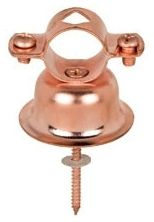 "1.94"" H, 1"" CTS Tube, 22 Gauge, 13/16"" Stand-Off, Copper Plated Steel, Bell Hanger"