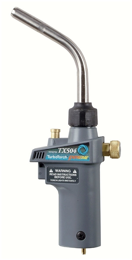 0386-1293 TURBO TORCH TX-504 44 TURBO-LITE PROP GAS SWIRL FLAME SELF LIGHTING TORCH