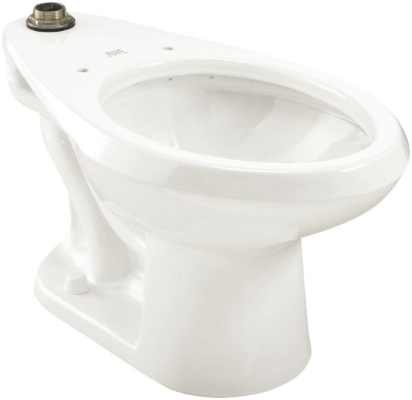 "15"" H 1-1/2"" Top Spud 1.1 to 1.6 GPF White Vitreous China Bottom Outlet Elongated Toilet Bowl W/O Seat"
