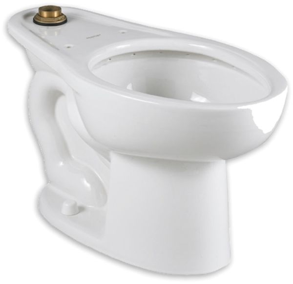 "16-1/2"" H 1-1/2"" Top Spud 1.1 to 1.6 GPF White Vitreous China Bottom Outlet Elongated Toilet Bowl W/O Seat"