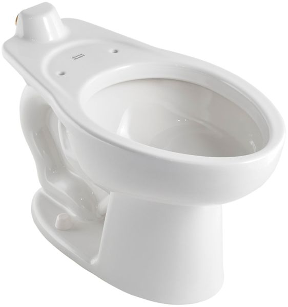 "16-1/2"" H 1-1/2"" Top Spud 1.1 to 1.6 GPF White Vitreous China Bottom Outlet Elongated Slotted Rim Toilet Bowl W/O Seat"
