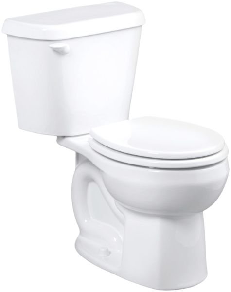 "15"" H 1.28 GPF White Vitreous China Bottom Outlet Round Front Toilet Bowl W/O Seat"