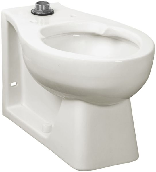 "17-1/8"" H 1-1/2"" Top Spud 1.28 to 1.6 GPF White Vitreous China Rear Outlet Elongated Universal Toilet Bowl W/O Seat"