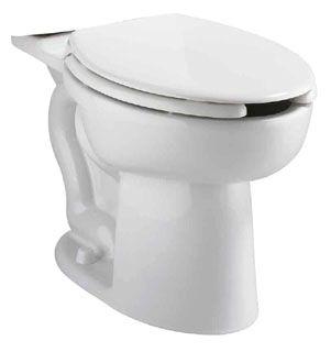 """16-1/2"""" H 1.1 GPF White Vitreous China Bottom Outlet Universal Toilet Bowl W/O Seat"""