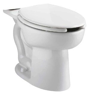 "16-1/2"" H 1.1 GPF White Vitreous China Bottom Outlet Universal Toilet Bowl W/O Seat"