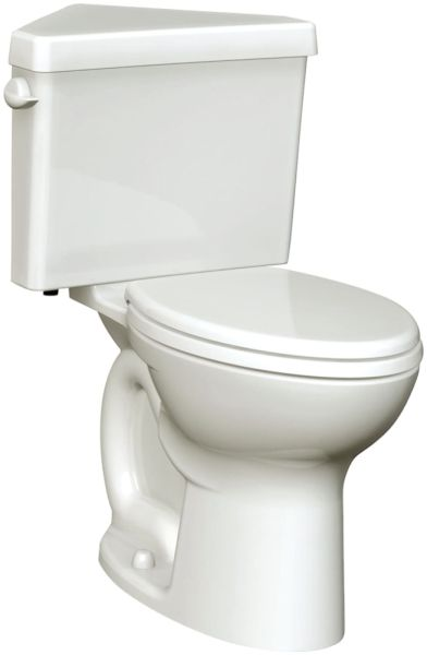"16-1/2"" H 1.28 GPF White Vitreous China Bottom Outlet Round Front Toilet Bowl W/O Seat"