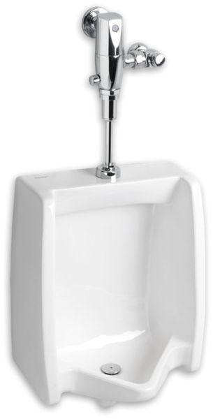 "18-7/8"" x 14-1/8"" x 26-1/8"" 1 GPF White Vitreous China Top Spud Inlet Washout Flush Action Elongated/Flushing Rim Urinal"