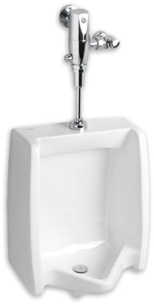 "18-7/8"" x 14-1/8"" x 26-1/8"" 0.125 to 1 GPF White Vitreous China Top Spud Inlet Washout Flush Action Urinal"