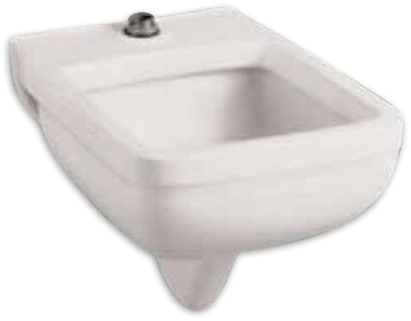 "25-1/4"" x 21-1/8"" x 17-1/2"" 9"" Hole Center White Vitreous China 2-Hole Rectangle in Rectangle Service Sink"