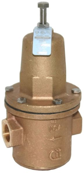 "3"" Flanged x Flanged DZR Bronze 25 to 75 PSIG Diaphragm Water Pressure Reducing Valve"