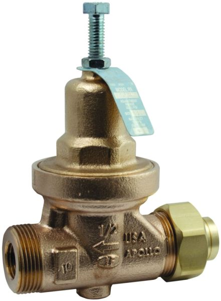 "2"" Threaded Union x FPT Bronze 25 to 75 PSIG Diaphragm Single Union Water Pressure Reducing Valve"