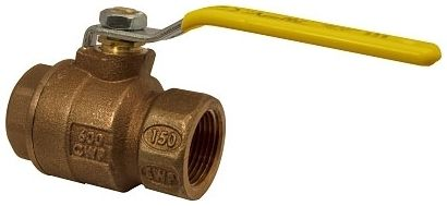 "2"" FPT x FPT Chrome Plated Brass Ball DZR Bronze Body Full Port 1/4 Turn Latch Lock Lever Handle 2-Piece Ball Valve W/Nut"