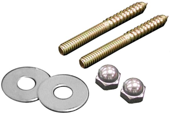 "1/4"" x 3-1/2"" Brass Closet Screw"