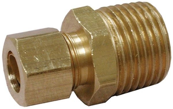 """1/4"""" x 3/8"""" Compression x FPT Brass Connector"""