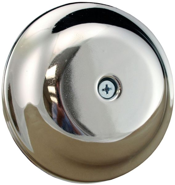 "7-1/4"" x 7-5/16"" x 1-3/8"" Chrome Plated High Impact Plastic Bell Design Drain Cleanout Cover Plate"