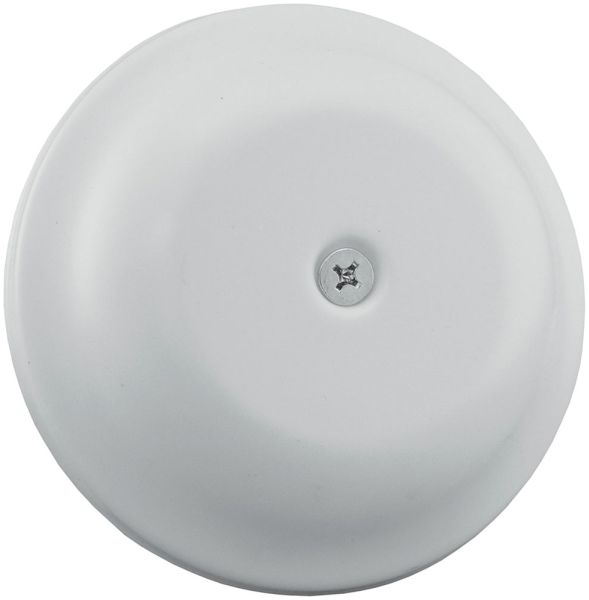 "7-1/4"" x 7-5/16"" x 1-3/8"" White High Impact Plastic Bell Design Drain Cleanout Cover Plate"