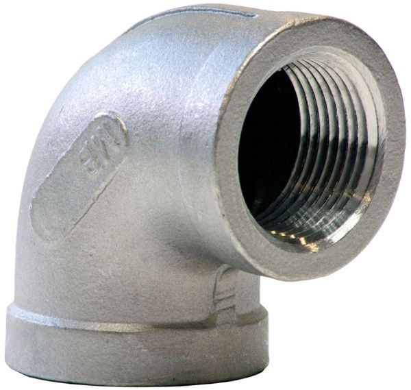 """1"""" x 1"""" FPT x FPT Class 150 316 Stainless Steel 90D Elbow"""