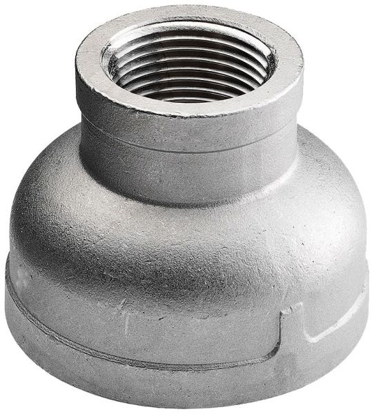 "3/8"" x 1/4"" Stainless Steel Reducer - FPT, 150 psi, 316 Stainless"