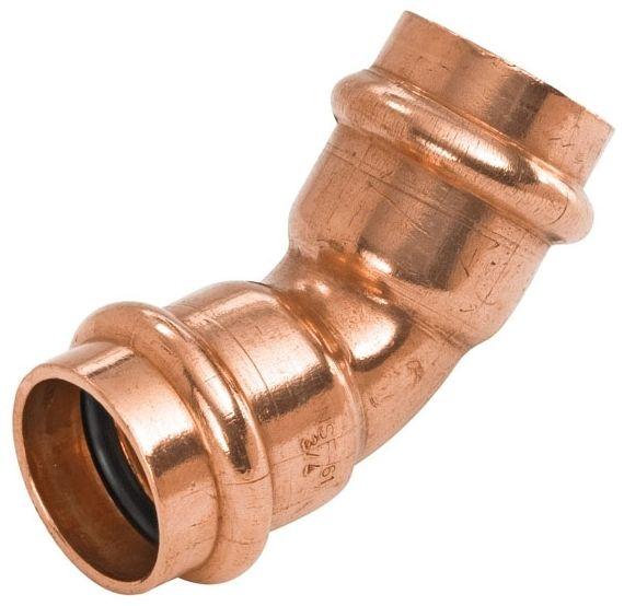 """3/4"""" x 3/4"""" Press x Press Copper 45D Elbow"""