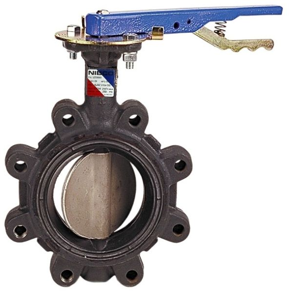 """10"""" Lug x Lug Ductile Iron Gear Operated Extended Neck Lug Butterfly Valve"""