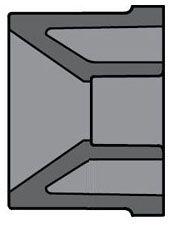 "6"" x 2"" Spigot x Socket Gray Injection Molded CPVC 80S Reducing Bushing"