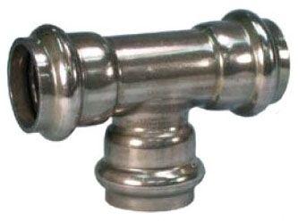 "1/2"" Press x Press x Press 304 Stainless Steel 10S Tee"