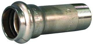 "3/4"" x 3/4"" Press x MPT 304L Stainless Steel Adapter"