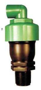 """APVBK-100L GEOFLOW 1"""" STD KINETIC AIR / VACUUM RELIEF VALVE W/ ELBOW"""