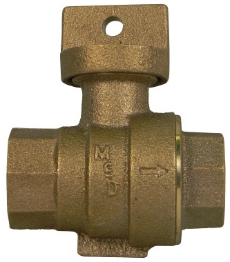 """76001-34 3/4"""" FIP X FIP NO LEAD BRS STOP & WASTE BALL VALVE 5131-250 AYMCD"""