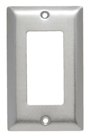(P&S) SS26 STAINLESS STEEL SMOOTH METAL WALL PLATE 1GANG DECORATOR