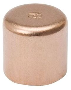 """1/4"""" C Seamless Wrot Copper Cleaned and Bagged Cap"""