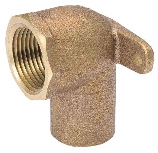 "3/4"" x 1/2"" C x FTP Cast Bronze Drop Ear Reducing 90D Elbow"