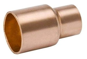 "3"" x 2"" C x C Seamless Wrot Copper Cleaned and Bagged Reducing Coupling"