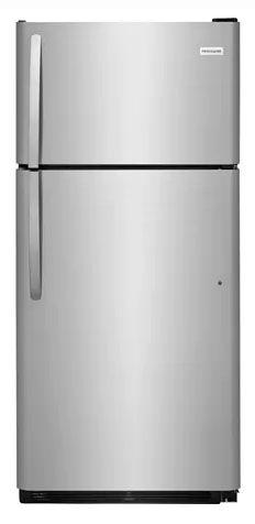 """30"""" 2-Door Top Freezer Refrigerator - Stainless Steel, 18 Cu Ft Capacity, 3.9 Cu Ft Freezer Capacity"""