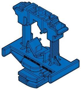 """3-1/2"""" x 4-7/8"""" 1 to 2"""" Trade 75 Lb Load Capacity Medium Blue Nylon Variable Strut Clamp"""