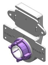 "3/4"" CTS PEX Pipe White Purple PVC 25 Lb Stub Out Pipe Clamp"