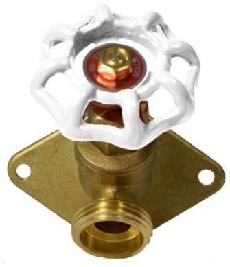 "1/2"" x 3/4"" PEX x MHT Brass Handwheel Large Flange Sillcock"