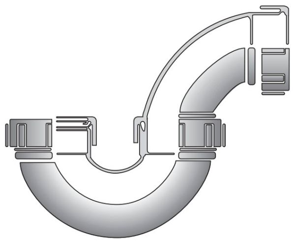 "2"" Pipe Formulated Polypropylene P-Trap"