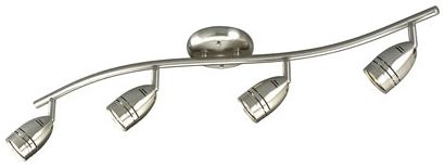 50 W 4-Light 120 V MR16 Brushed Nickel Wall/Celling Mount Celling Light Fixture