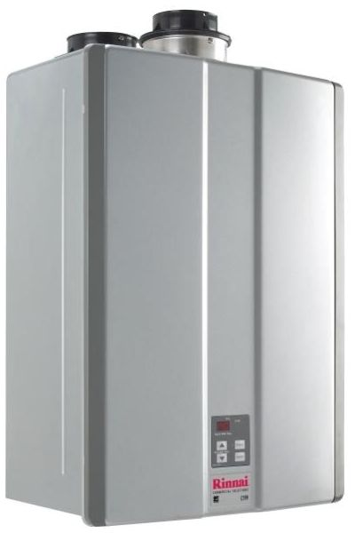 "Tankless Water Heater, 18.5"" x 10"" x 26"" 3/4"" MPT x 3/4"" MPT 15200 to 199000 BTU/Hr Natural Gas Condensing"