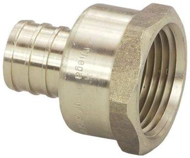 "3/4"" x 1"" Crimp x FPT Brass Female Adapter"