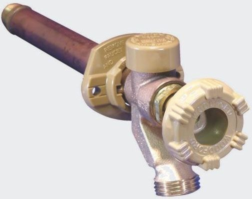 """1/2"""" x 3/4"""" PEX Tube x MHT 12"""" Rough-In Freezeless Wall Wall Faucet"""