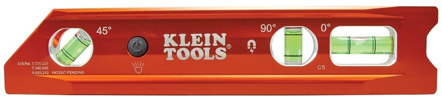 KLEIN 935RBLT LIGHTED TORPEDO BILLET LEVEL, REM