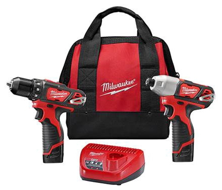 MIL 2494-22 (PROMO) M12 COMBO DRILL/IMPACT - Get (1) FREE M12 Compact Battery (2) PACK 1.5Ah (48-11-2411)