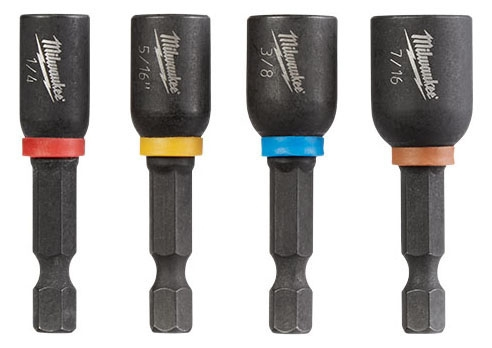 """MILW 49-66-4562 1-7/8 NUTDRIVER SET SHOCKWAVE 1-7/8"""" Magnetic Nutdriver Set (4 PC)"""
