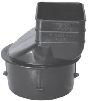 """0465AA 4-1/2"""" X 4"""" CORR DOWNSPOUT ADPT ADS"""