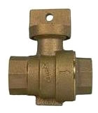 """76001-1 1"""" FIP 6001 NO LEAD BRS STOP & WASTE BALL VALVE WTR SVC 5131-269 AYMCD"""