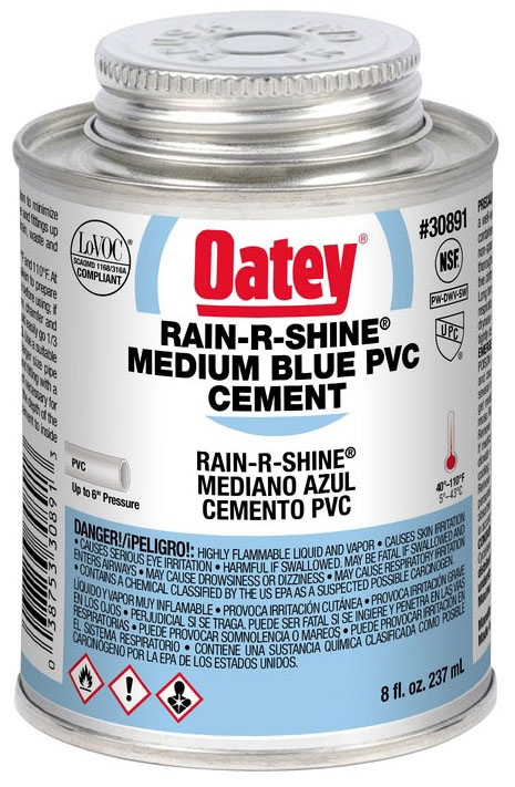 1/2 PINT PVC RAIN R SHINE WET SET CEMENT